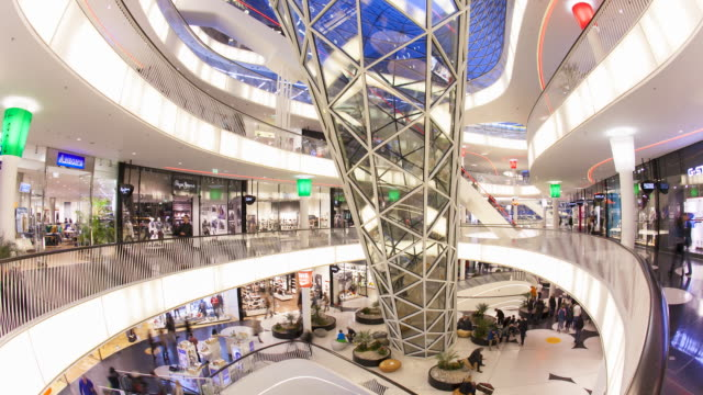 Modern architecture in MyZeil shopping mall, Frankfurt am Main, Hesse, Germany, Europe