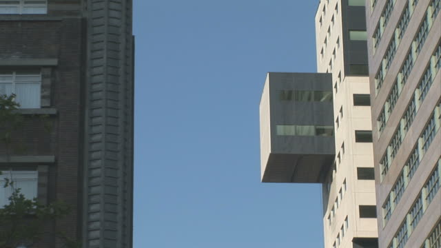 modern architecture. rotterdam. netherlands - low angle view stock videos & royalty-free footage