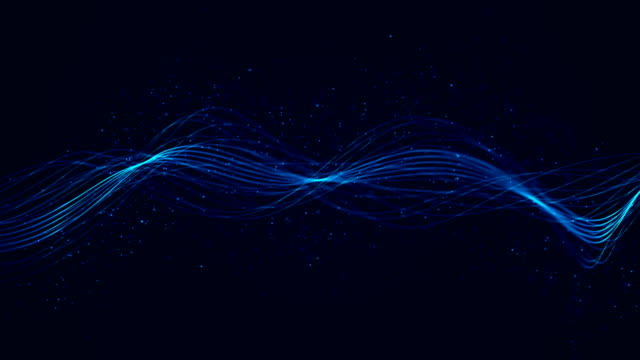 modern artistic waves lines with infinite loop - sound wave stock videos & royalty-free footage