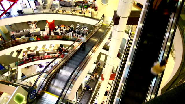 modern asian shopping mall - espositore per negozio video stock e b–roll