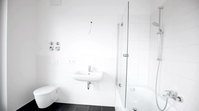 modern bathroom - bathroom stock videos and b-roll footage