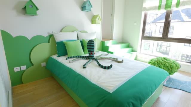 modern bedroom interior 4k - furniture stock videos & royalty-free footage