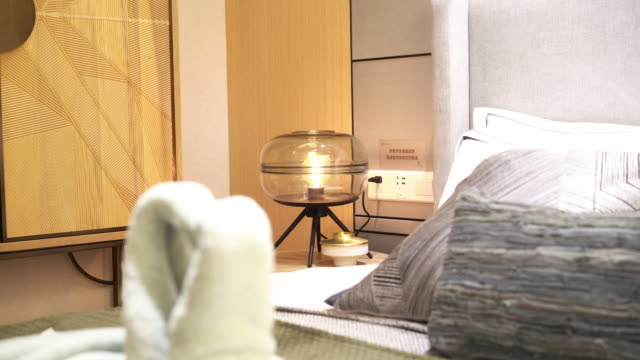 modern bedroom interior - loft apartment stock videos & royalty-free footage