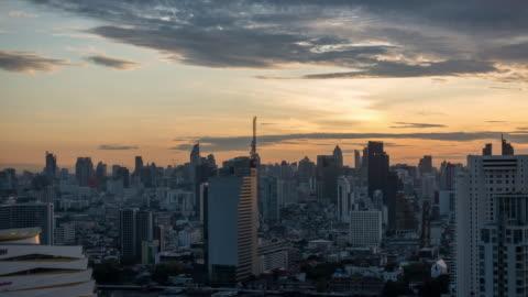 modern building bangkok city in sunrise. - bangkok stock videos & royalty-free footage