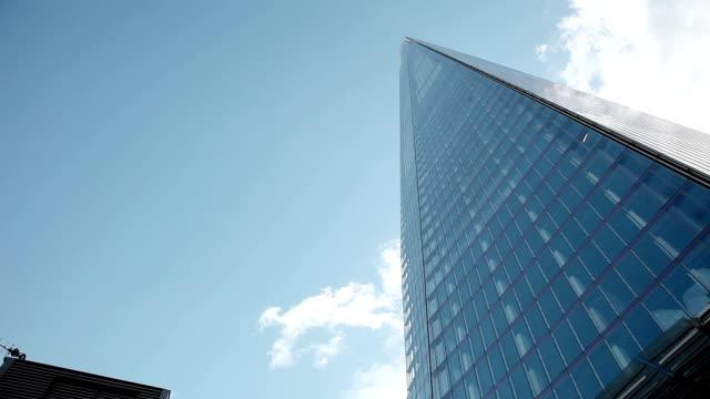 modern building in london - shard london bridge stock videos & royalty-free footage
