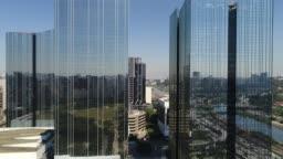Modern Buildings by Drone in Sao Paulo