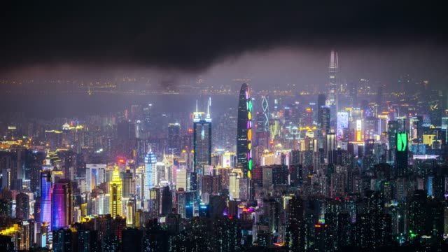 modern buildings exterior in shenzhen,time lapse - urban sprawl stock videos & royalty-free footage