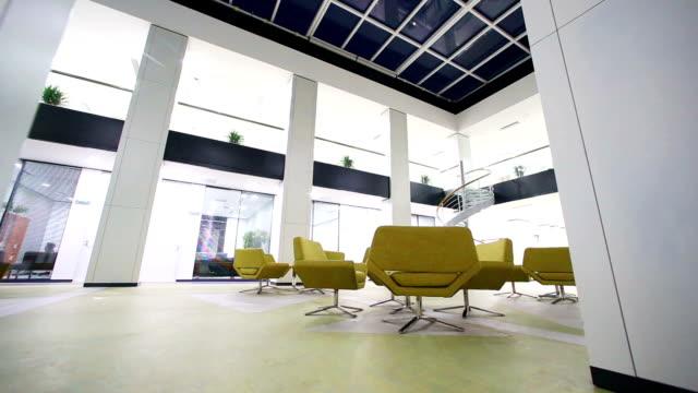 interior de escritório moderno de negócios, timelapse.