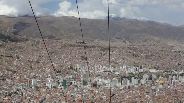a modern cable car system in la paz bolivia - la paz region la paz stock-videos und b-roll-filmmaterial