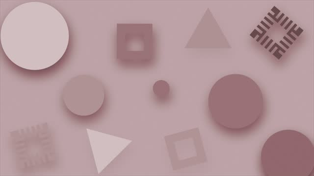 vidéos et rushes de modern circle and square rectangle shape trendy animated background, abstract minimal pop art motion design animation. boucle transparente, moderne, motion design pour affiche, couverture, branding, bannière, pancarte. 4k (4k) - k pop