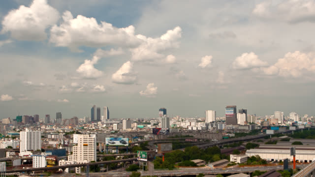 vidéos et rushes de ville moderne de bangkok - vertige