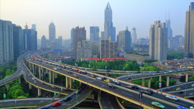 Moderne stad Rush Hour, Shanghai, China