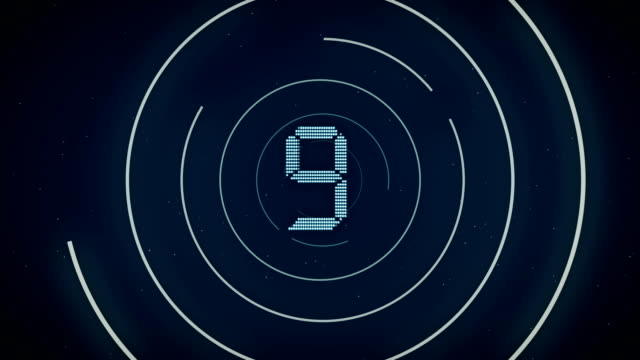 modern countdown - number 10 stock videos & royalty-free footage