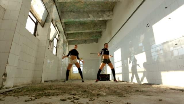Modern dance in an abandoned warehouse