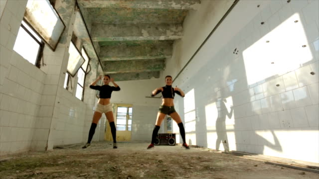 modern dance in an abandoned warehouse - modern dancing stock videos and b-roll footage