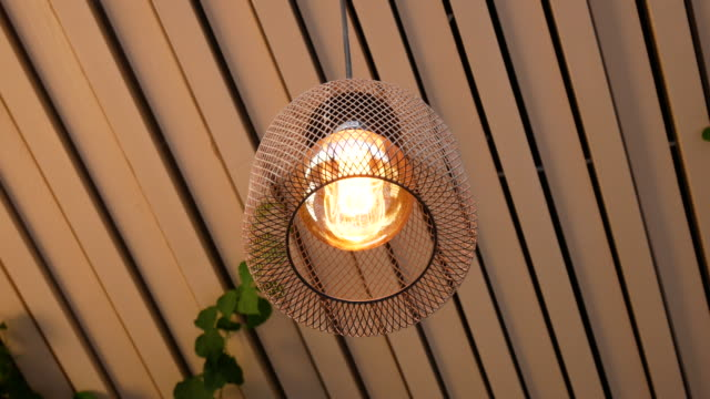 modern decorative lighting cafe, 4k resolution. - ceiling stock videos & royalty-free footage