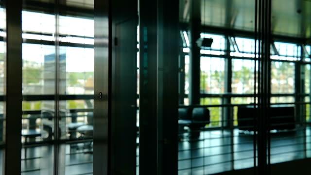 vídeos y material grabado en eventos de stock de modern elevator - enfoque en primer plano