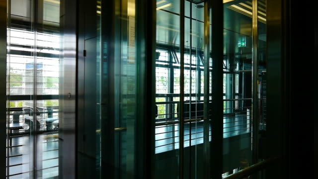 modern elevator - lobby video stock e b–roll