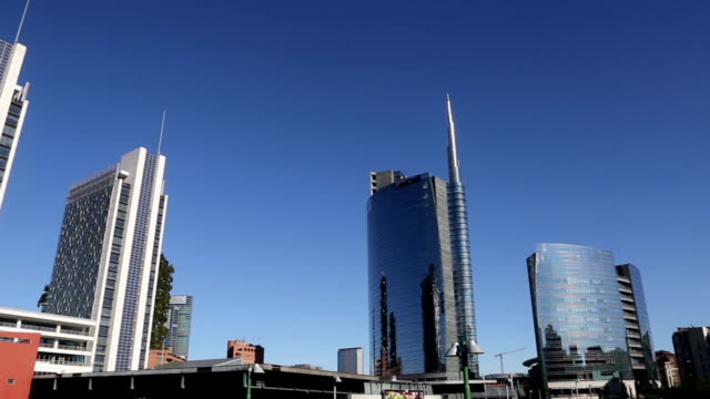 modern financial center in milan, italy - milan stock videos & royalty-free footage