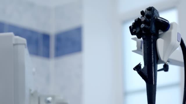 modern gastroscope in hospital - endoscope stock videos & royalty-free footage