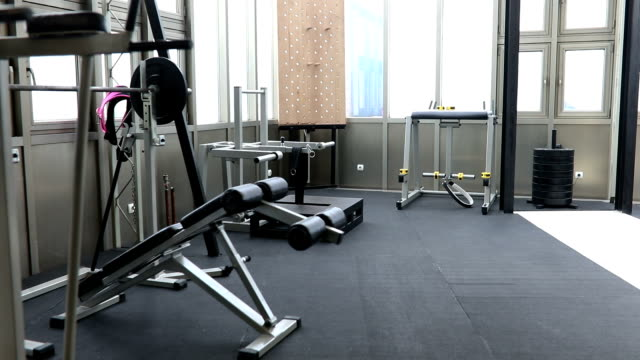 modern gym - gym stock videos & royalty-free footage
