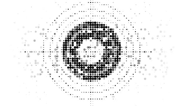 target : modern halftone style (loop) - group of objects stock videos and b-roll footage