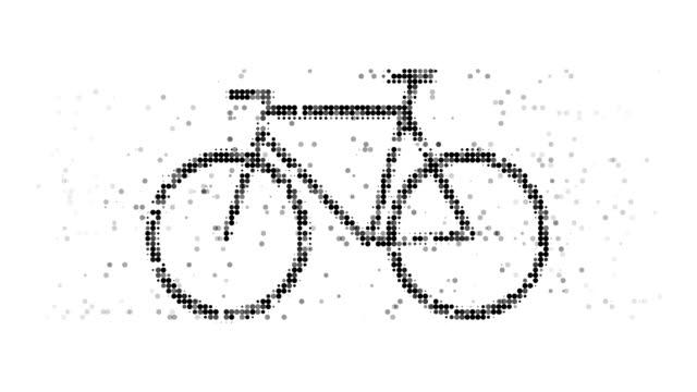 vídeos de stock, filmes e b-roll de bicicleta: moderno estilo de meio-tom (arco) - meio tom