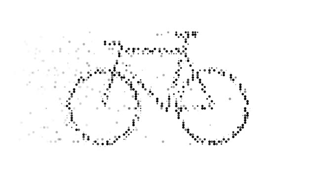 BICYCLE : modern halftone style (TRANSITION)