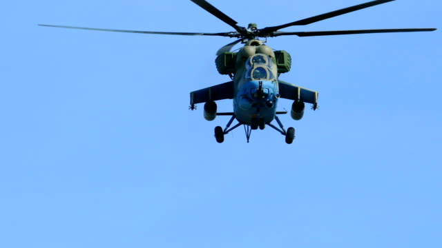 modern heavy attack helicopter - air attack stock videos and b-roll footage