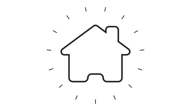 modern home line icon animation on white background - house stock videos & royalty-free footage