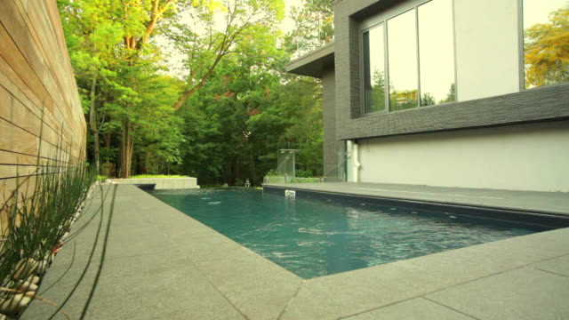 modern house exterior - fence stock videos & royalty-free footage