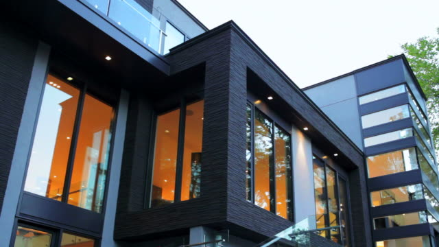 modern house exterior - open house stock videos & royalty-free footage