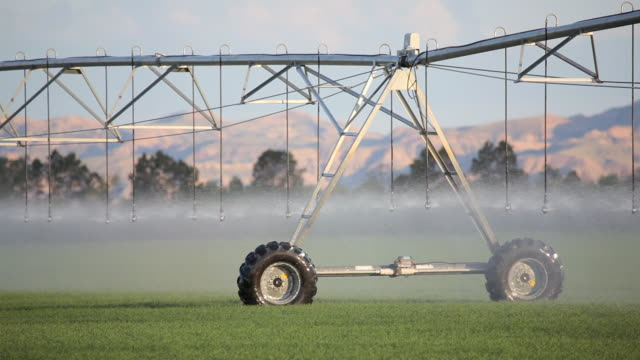 modern irrigation system operating - irrigation equipment stock videos & royalty-free footage