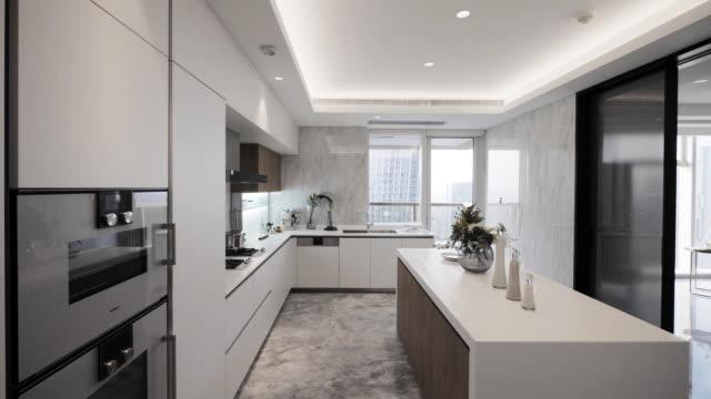 modern kitchen interior - home showcase interior stock videos & royalty-free footage