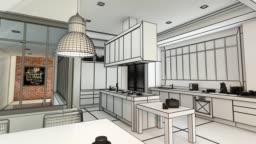 Modern  kitchen project evolution