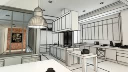 Modern  kitchen project evolution