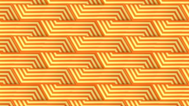 現代のラインアートオレンジ色の無限の動きパターン。デジタルシームレスなループアニメーション。3d レンダリング。4k、ウルトラhd解像度 - 投影図点の映像素材/bロール