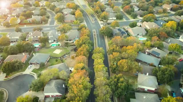modern living above suburbs real estate neighborhoods - modern rock stock videos & royalty-free footage