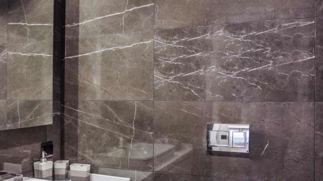 modern luxury bathroom - marble stock videos & royalty-free footage