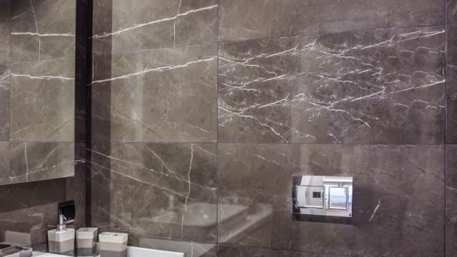 modern luxury bathroom - bathroom stock videos & royalty-free footage