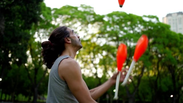 modern man juggling cones - modern manhood stock videos & royalty-free footage