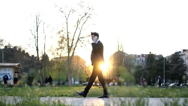 Modern man outdoors