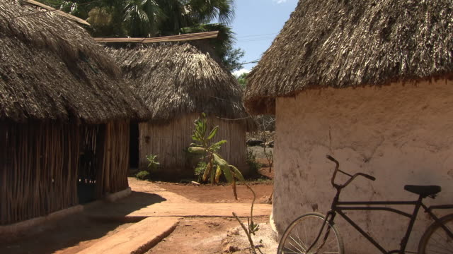 modern mayan village built according to tradition - hut stock videos & royalty-free footage