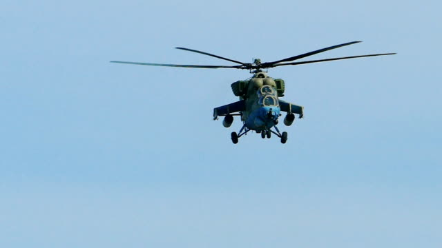 modern military helicopter (slow motion) - battle stock videos and b-roll footage