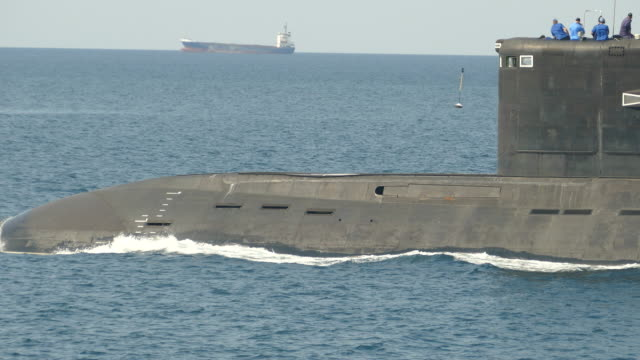 modern missile submarine at sea - threats stock videos and b-roll footage