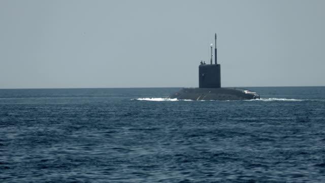 modern missile submarine - submarine stock videos and b-roll footage