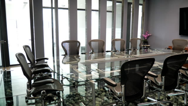 modern office - board room - conference table stock videos & royalty-free footage