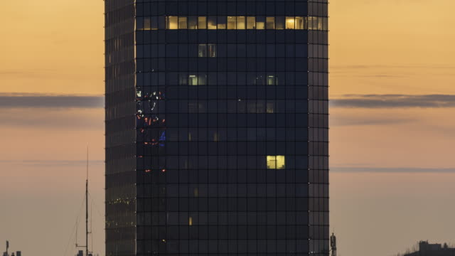 modern office building - curtain wall facade stock videos and b-roll footage