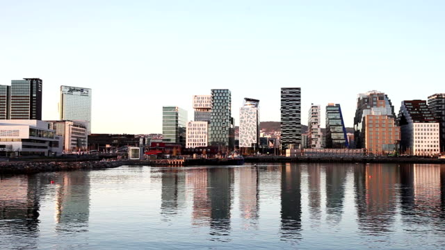 Modern office buildings in Oslo