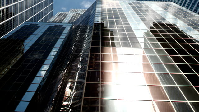 modern office buildings - tilt stock videos and b-roll footage
